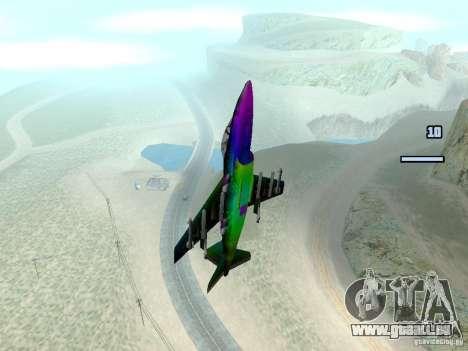 Colorful Hydra pour GTA San Andreas sur la vue arrière gauche