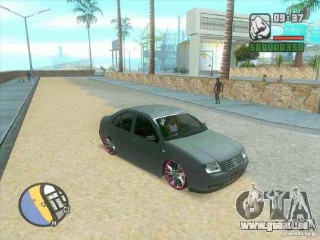 VW Bora Tuned pour GTA San Andreas sur la vue arrière gauche