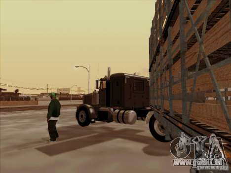 Peterbilt 378 pour GTA San Andreas vue arrière