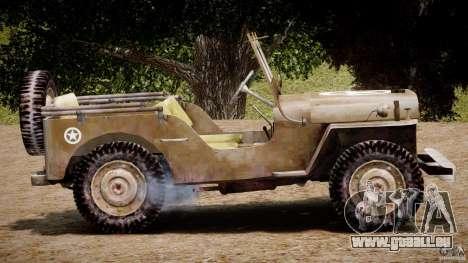 Jeep Willys [Final] pour GTA 4 est un côté