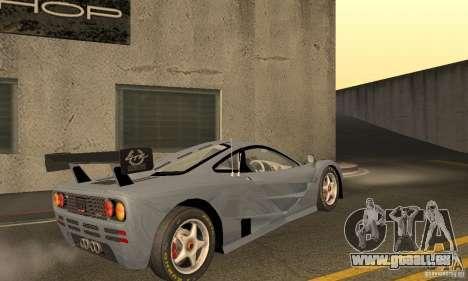Mclaren F1 LM (v1.0.0) pour GTA San Andreas vue de droite