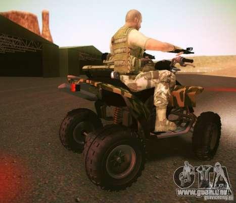 ATV 50 pour GTA San Andreas sur la vue arrière gauche