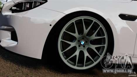 BMW M6 pour GTA 4 vue de dessus