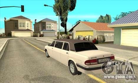 GAZ 3110 Sedan pour GTA San Andreas sur la vue arrière gauche