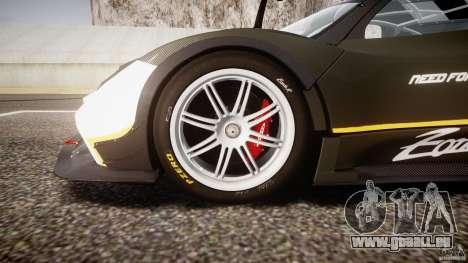 Pagani Zonda R 2009 für GTA 4 Unteransicht