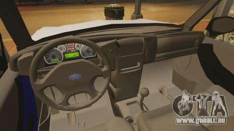 Ford Ranger 2008 XLR pour GTA 4 est une vue de l'intérieur