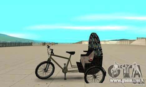 Manual Rickshaw v2 Skin3 pour GTA San Andreas laissé vue