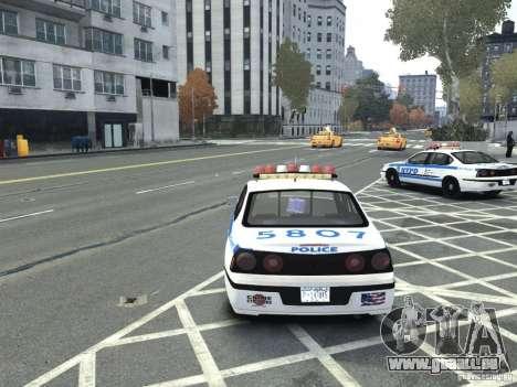 Chevrolet Impala NYCPD POLICE 2003 pour GTA 4 Vue arrière de la gauche