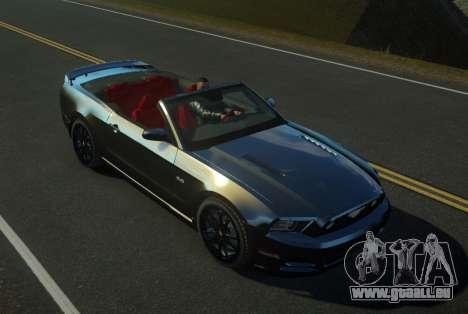 Ford Mustang GT Convertible 2013 pour GTA 4 est une gauche