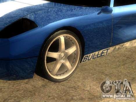 Bullet GT Drift pour GTA San Andreas laissé vue