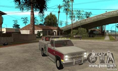 Chevrolet Silverado - utility pour GTA San Andreas vue arrière