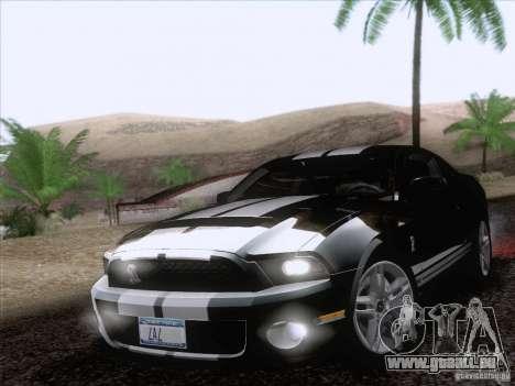 Ford Shelby Mustang GT500 2010 für GTA San Andreas Räder