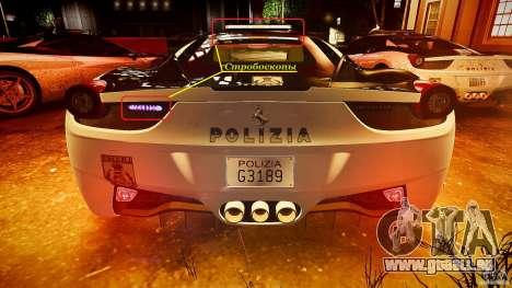 Ferrari 458 Italia - Brazilian Police [ELS] für GTA 4-Motor