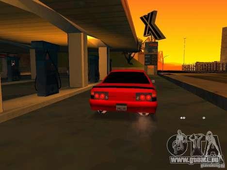 Previon GT pour GTA San Andreas vue intérieure