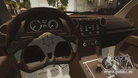 Volkswagen Amarok Light Tuning pour GTA 4 est une vue de l'intérieur