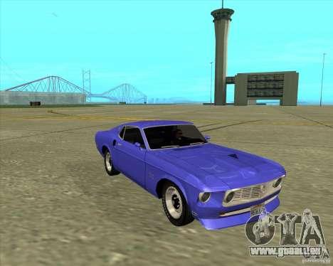 Ford Mustang Boss 429 1969 für GTA San Andreas zurück linke Ansicht