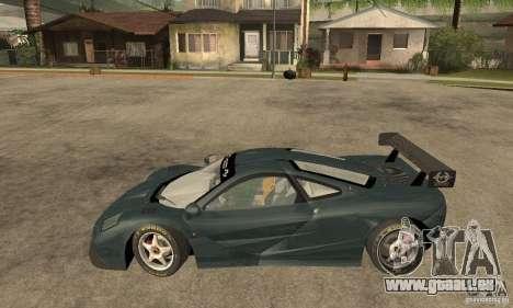 Mclaren F1 LM (v1.0.0) pour GTA San Andreas laissé vue