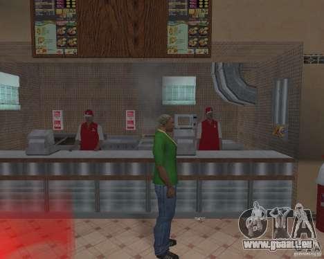 Nouvelles textures, des restaurants et des bouti pour GTA San Andreas huitième écran