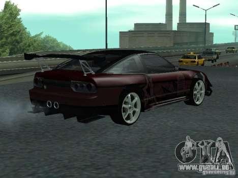 Nissan 240 SX pour GTA San Andreas sur la vue arrière gauche