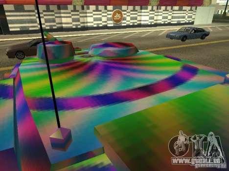 Eine fröhliche Farbe-tank für GTA San Andreas Rückansicht
