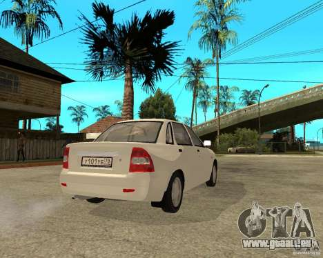 VAZ Lada 2170 Priora pour GTA San Andreas sur la vue arrière gauche