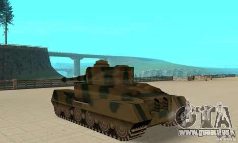 Char Tigre-RL pour GTA San Andreas sur la vue arrière gauche