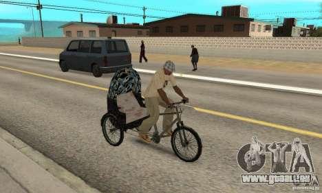 Manual Rickshaw v2 Skin3 pour GTA San Andreas vue de droite