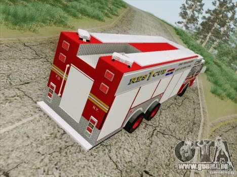 E-One F.D.N.Y Fire Rescue 1 pour GTA San Andreas vue intérieure