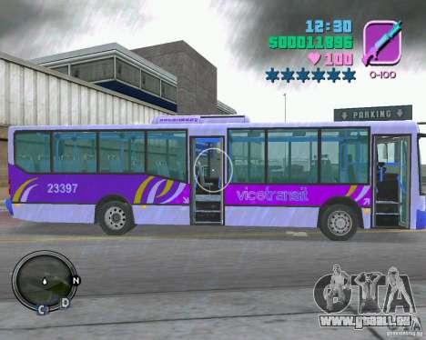 Marcopolo Bus pour GTA Vice City vue arrière