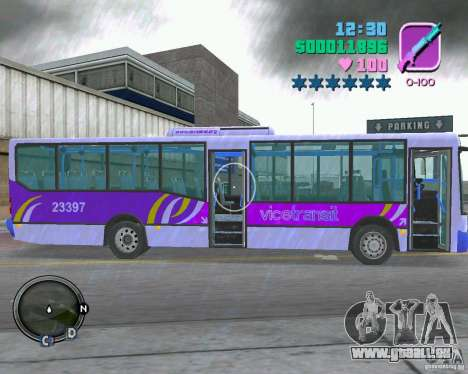 Marcopolo Bus für GTA Vice City Rückansicht