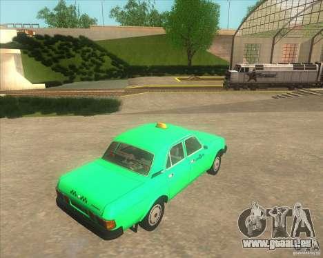 Taxi GAZ 31029 pour GTA San Andreas sur la vue arrière gauche