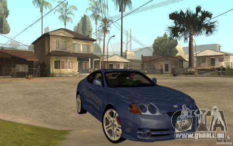 Hyundai Tiburon Jc2 pour GTA San Andreas vue arrière