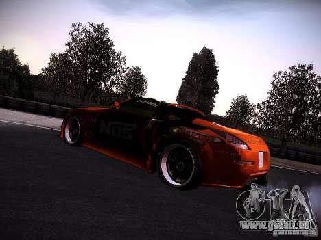 Nissan 370Z Chris Forsberg für GTA San Andreas zurück linke Ansicht
