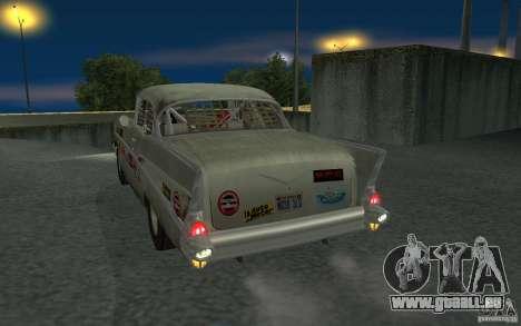 Chevrolet BelAir Bloodring Banger 1957 pour GTA San Andreas vue de droite