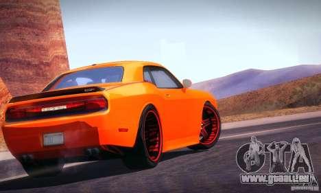 Dodge Quinton Rampage Jackson Challenger SRT8 v1 pour GTA San Andreas sur la vue arrière gauche