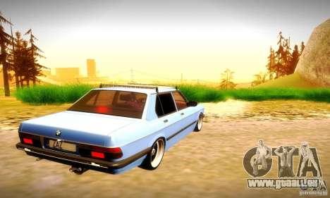 BMW E28 525e RatStyle No1 pour GTA San Andreas vue arrière