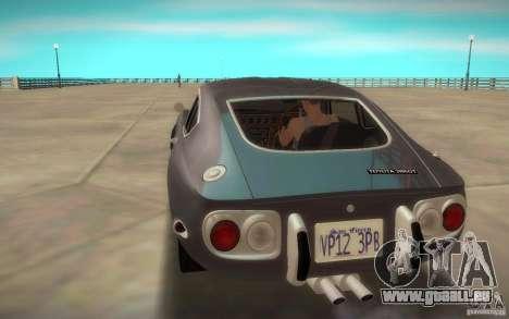 Toyota 2000GT 1969 pour GTA San Andreas laissé vue