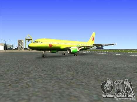 Airbus A-320 S7Airlines für GTA San Andreas linke Ansicht