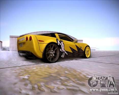 Chevrolet Corvette C6 super promotion pour GTA San Andreas vue de droite