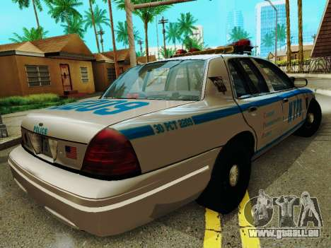 Ford Crown Victoria 2003 NYPD White pour GTA San Andreas vue de droite
