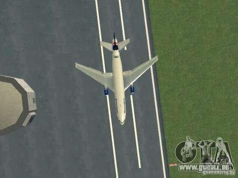 McDonell Douglas DC10 British Airways pour GTA San Andreas vue intérieure