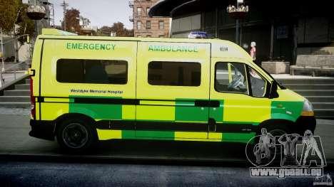 Renault Master 2007 Ambulance Scottish [ELS] pour GTA 4 est une vue de l'intérieur
