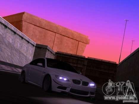 BMW M3 E92 Drift pour GTA San Andreas sur la vue arrière gauche