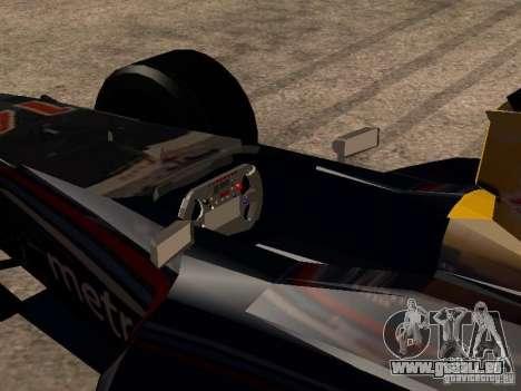 F1 Red Bull Sport pour GTA San Andreas vue intérieure