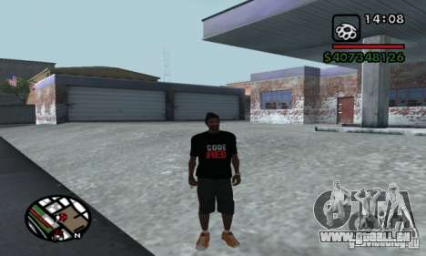 T-shirt codered pour GTA San Andreas