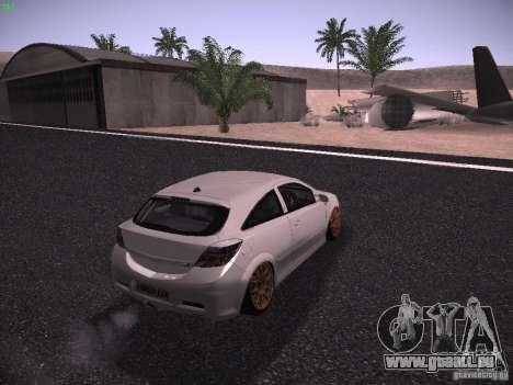 Vauxhall Astra VXR Tuned pour GTA San Andreas laissé vue