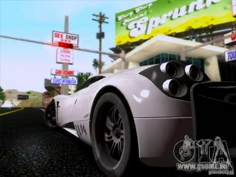Pagani Huayra 2011 für GTA San Andreas Rückansicht
