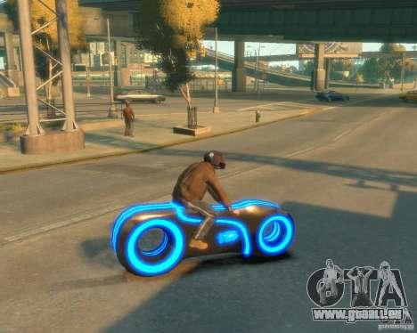 Moto du trône (néon bleu) pour GTA 4 est une gauche
