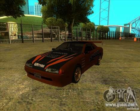 Pak vinyles pour Elegy standard pour GTA San Andreas sur la vue arrière gauche