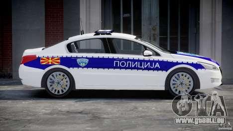 Peugeot 508 Macedonian Police [ELS] für GTA 4 linke Ansicht